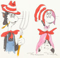 Animation Art:Concept Art, The Cat in the Hat Character Concept Art by Maurice Noble(DePatie-Freleng, 1971)....