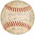 Autographs:Baseballs, Circa 1960 Los Angeles Dodgers Team Signed Baseball. ...