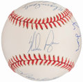 Autographs:Baseballs, 3,000 Strikeouts Multi-Signed Baseball Including Ryan, Seaver,Spahn, etc....