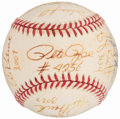 Autographs:Baseballs, 3,000+ Hit Multi-Signed Baseball Including Rose, Aaron, Mays, Musial, etc. ...