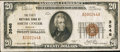 National Bank Notes:Kansas, Smith Centre, KS - $20 1929 Ty. 1 The First NB Ch. # 3546. ...