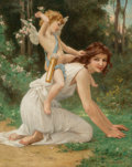 Fine Art - Painting, European:Antique  (Pre 1900), Guillaume Seignac (French, 1870-1924). Cupid and Venus. Oil on canvas. 39-1/2 x 32 inches (100.3 x 81.3 cm). Signed lowe...