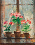 Pierre Eugène Montezin (French, 1874-1946) Geraniums Oil on canvas 35-3/4 x 27-3/4 inches (90.8 x