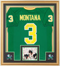 Football Collectibles:Others, Joe Montana Signed Notre Dame Jersey. ...