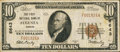 National Bank Notes:Kansas, Augusta, KS - $10 1929 Ty. 1 The First NB Ch. # 6643. ...