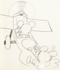 Animation Art:Production Drawing, Plane Crazy Mickey Mouse and Minnie Mouse Animation Drawing (Walt Disney, 1928/29)....