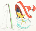 Animation Art:Concept Art, The Cat in the Hat Fish Concept Art by Maurice Noble(DePatie-Freleng, 1971)....