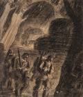 Fine Art - Work on Paper:Drawing, Ernst Berg (Germany, 20th Century). World War I MilitaryScenes (3 works). Charcoal on paper. 16 x 12 inches (40.6 x30.... (Total: 3 Items)