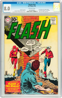 The Flash #123 (DC, 1961) CGC VF 8.0 Off-white pages