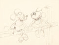 Animation Art:Production Drawing, Touchdown Mickey Mickey Mouse and Minnie Animation Drawing(Walt Disney, 1932)....