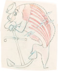Animation Art:Production Drawing, Hank Porter - WWII Disney USS Pompon Submarine Insignia(Walt Disney, c. 1940s)....