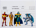 Animation Art:Production Cel, Iron Man Character Size Comparison Cel and Print Group of 7(Marvel Films, 1995) ... (Total: 7 )