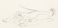 Animation Art:Production Drawing, Pluto's Quin-puplets Animation Drawing (Walt Disney,1937)....
