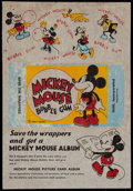 Non-Sport Cards:Other, 1935 R89 Gum Inc. Mickey Mouse Bubble Gum Wax Wrapper. ...