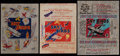 "Non-Sport Cards:Other, 1930's Goudey, National Chicle and World Wide Gum ""Sky Birds""Wrappers Trio (3). ..."