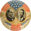"Political:Pinback Buttons (1896-present), McKinley & Roosevelt: ""Musical Notes"" Jugate...."