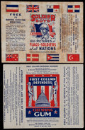 "Non-Sport Cards:Other, 1930's Goudey ""Soldier Boys"" & ""First Column Defenders""Wrappers Pairing (2). ..."