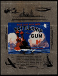 "Non-Sport Cards:Other, 1930's R20 Newport Products ""Battleship Gum"" 1-Cent Wrapper. ..."