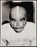 Football Collectibles:Photos, Otto Graham Vintage Wire Photographs (2)....
