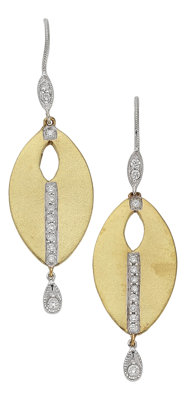 Diamond, Gold Earrings, Meira T