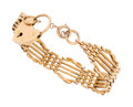 Estate Jewelry:Bracelets, Gold Link Bracelet. ...