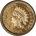 Proof Indian Cents: , 1859 1C PR63 NGC. Sharply struck. The devices are frosty and the fields are nicely reflective. Mostly brilliant surfaces wi...