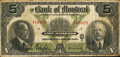 Canadian Currency: , Montreal, PQ- Bank of Montreal $5 Jan, 2, 1923 Ch 505-56-02. ...