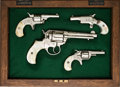 Handguns:Single Action Revolver, Cased Set of Four Engraved Colt Handguns.... (Total: 4 Items)