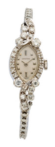 Estate Jewelry:Watches, Croton Lady's Diamond, White Gold Watch. ...