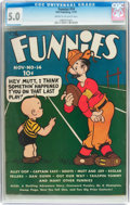 Platinum Age (1897-1937):Miscellaneous, The Funnies #14 (Dell, 1937) CGC VG/FN 5.0 Cream to off-whitepages....