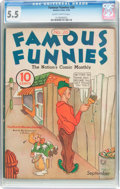 Platinum Age (1897-1937):Miscellaneous, Famous Funnies #26 (Eastern Color, 1936) CGC FN- 5.5 Slightlybrittle pages....