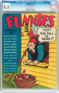 Platinum Age (1897-1937):Miscellaneous, The Funnies #13 (Dell, 1937) CGC FN+ 6.5 Off-white pages....