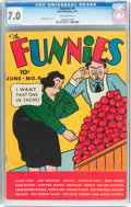 Platinum Age (1897-1937):Miscellaneous, The Funnies #9 (Dell, 1937) CGC FN/VF 7.0 Off-white pages....