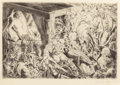 Miscellaneous, German School (20th Century). Nightmares (three works). Etchings. 6-3/4 x 10-1/4 inches (17.1 x 26.0 cm) (image, largest... (Total: 3 Items)