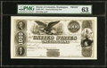 Large Size:Federal Proofs, Face Proof $1000 1847 Hessler HX-115D Two Year Note PMG Choice Uncirculated 63.. ...