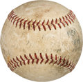Baseball Collectibles:Balls, 1964 Eddie Mathews Career Home Run #425 Baseball, MEARS Authentic....