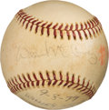 Baseball Collectibles:Balls, 1977 Willie McCovey Career Home Run #490 Baseball, MEARSAuthentic....