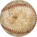 Baseball Collectibles:Balls, 1935 Jimmie Foxx Signed Home Run Baseball #33--Career #299, MEARS Authentic....