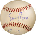 Baseball Collectibles:Balls, 1954 or 1955 Ernie Banks Signed Home Run #19 Baseball--Career #21 or #40, MEARS Authentic....