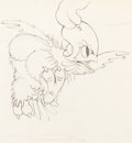 Animation Art:Production Drawing, Clara Cluck Animation Drawing (Walt Disney, c. 1930s)....