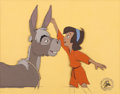 Animation Art:Production Cel, The Small One Boy and Donkey Production Cel (Walt Disney,1978)....