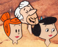 Animation Art:Production Cel, The Flintstones Wilma, Betty, and Pierre Production CelSetup (Hanna-Barbera, 1962)....