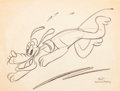 Animation Art:Production Drawing, Pluto Sketch by Roy Williams (Walt Disney, c. 1940s)....