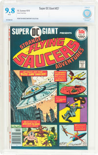Super DC Giant #27 Flying Saucers (DC, 1976) CBCS NM/MT 9.8 White pages