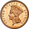 Three Dollar Gold Pieces, 1880 $3 MS64+ PCGS. CAC....