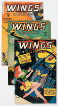 Golden Age (1938-1955):War, Wings Comics #87, 96, and 108 Group (Fiction House, 1947-49)....(Total: 3 Comic Books)