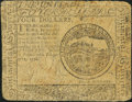 Continental Currency February 17, 1776 $4 Fine