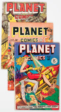 Golden Age (1938-1955):Science Fiction, Planet Comics Group of 4 (Fiction House, 1947-50) Condition:Average VG.... (Total: 4 Comic Books)