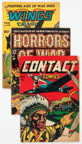 Golden Age (1938-1955):War, Comic Books - Average Golden Age War Group of 7 (VariousPublishers, 1941-63) Condition: Average VG.... (Total: 7 ComicBooks)