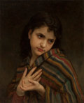 Fine Art - Painting, European:Antique  (Pre 1900), William Adolphe Bouguereau (French, 1825-1905). La frileuse,1879. Oil on canvas. 22 x 18 inches (55.9 x 45.7 cm). Signe...(Total: 2 Items)